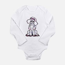 Poodle Beach Bum Long Sleeve Infant Bodysuit