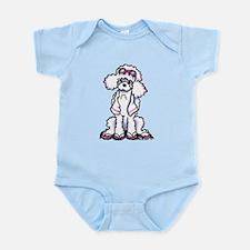 Poodle Beach Bum Infant Bodysuit