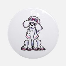 Poodle Beach Bum Ornament (Round)