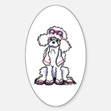 Poodle Beach Bum Decal