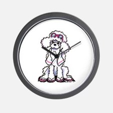 Poodle Beach Bum Wall Clock