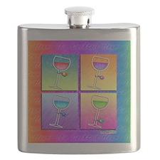 POP ART WINE Flask