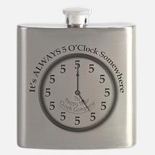 ALWAYS 5 O'CLOCK SOMEWHERE Flask