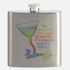 GLASS HALF FULL Cocktail Flask