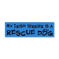 irishterrier_rescuedog Car Magnet 10 x 3