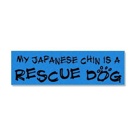 japanesechin_rescuedog Car Magnet 10 x 3