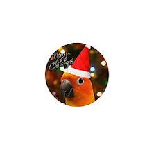 3-sunconure_santa_ornament Mini Button