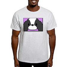 anime_japanesechinbw_blk T-Shirt