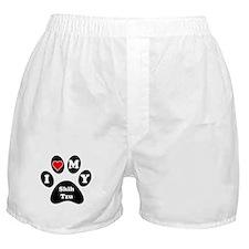 I Heart My Shih Tzu Boxer Shorts