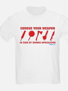 Choose Your Weapon Zombie Apocalypse T-Shirt