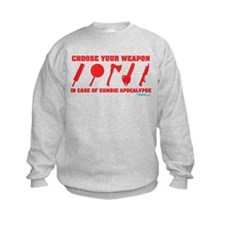 Choose Your Weapon Zombie Apocalypse Sweatshirt