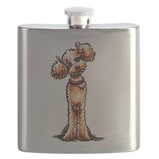 Girly Apricot Poodle Flask