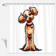 Girly Apricot Poodle Shower Curtain