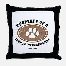 Weimardoodle dog Throw Pillow