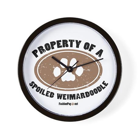 Weimardoodle dog Wall Clock