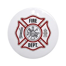 Fire Dept. Emblem.. Ornament (Round)