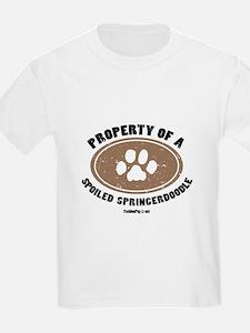 Springerdoodle dog Kids T-Shirt
