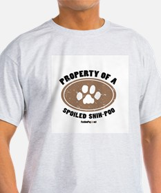 Shih-Poo dog Ash Grey T-Shirt