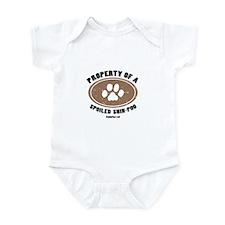 Shih-Poo dog Infant Bodysuit