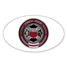 FireFighters Coin... Oval Decal