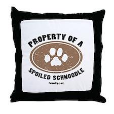 Schnoodle dog Throw Pillow
