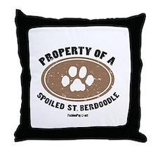 St. Berdoodle dog Throw Pillow