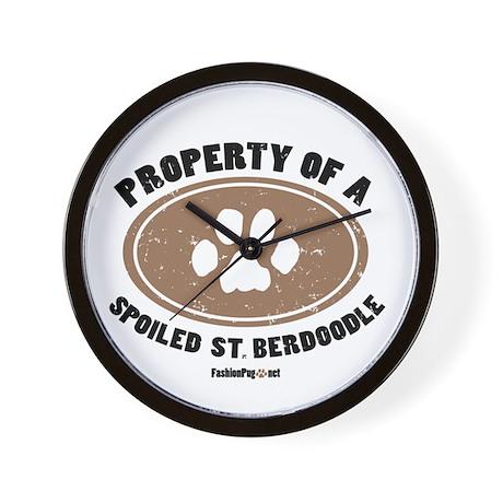 St. Berdoodle dog Wall Clock