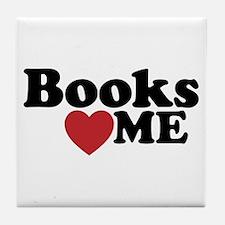 Books Love Me Tile Coaster