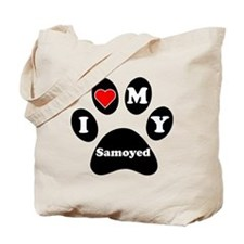 I Heart My Samoyed Tote Bag