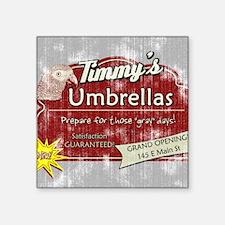 """timmysumbrellas_mousepad Square Sticker 3"""" x 3"""""""