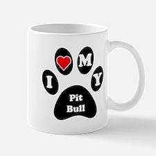 I Heart My Pit Bull Mug