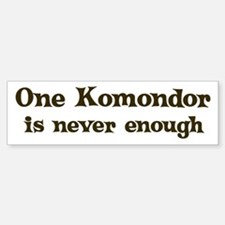 One Komondor Bumper Bumper Bumper Sticker