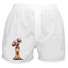 Apricot Poodle Girly Boxer Shorts