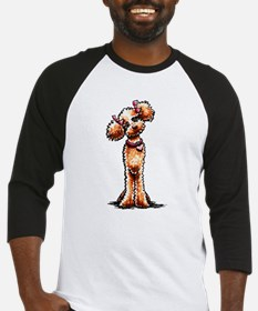 Apricot Poodle Girly Baseball Jersey