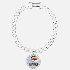 I Dream of narwhals Charm Bracelet, One Charm