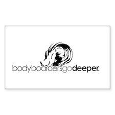 """Bodyboarders Go Deeper"" Decal"