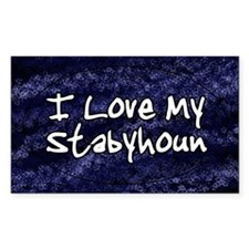 funklove_oval_stabyhoun Decal
