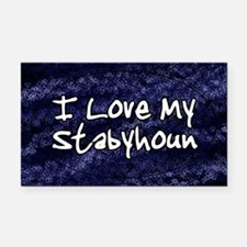 funklove_oval_stabyhoun Rectangle Car Magnet