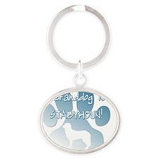 granddog_stabyhoun Oval Keychain