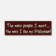 morepeople_stabyhoun Car Magnet 10 x 3