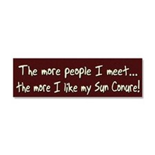 sun_morepeople Car Magnet 10 x 3