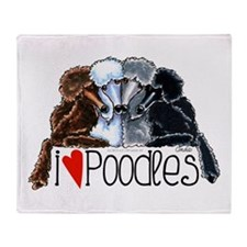 Love Poodles Throw Blanket