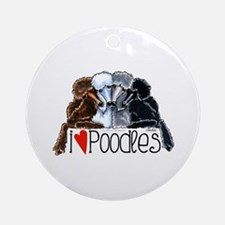 Love Poodles Ornament (Round)