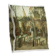 Montmartre Burlap Throw Pillow