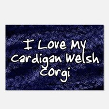 cardigan_funkylove_oval Postcards (Package of 8)