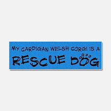 cardigan_rescuedog Car Magnet 10 x 3