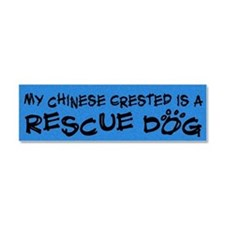 chinesecrested_rescuedog Car Magnet 10 x 3