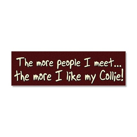 collie_morepeople Car Magnet 10 x 3