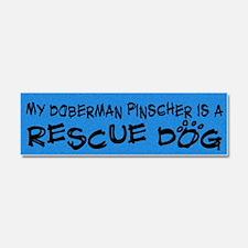 doberman_rescuedog Car Magnet 10 x 3