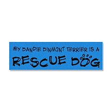 dandie_rescuedog Car Magnet 10 x 3